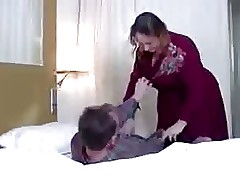 mom gives son blowjob : beautiful mature women, deepthroat cumshot
